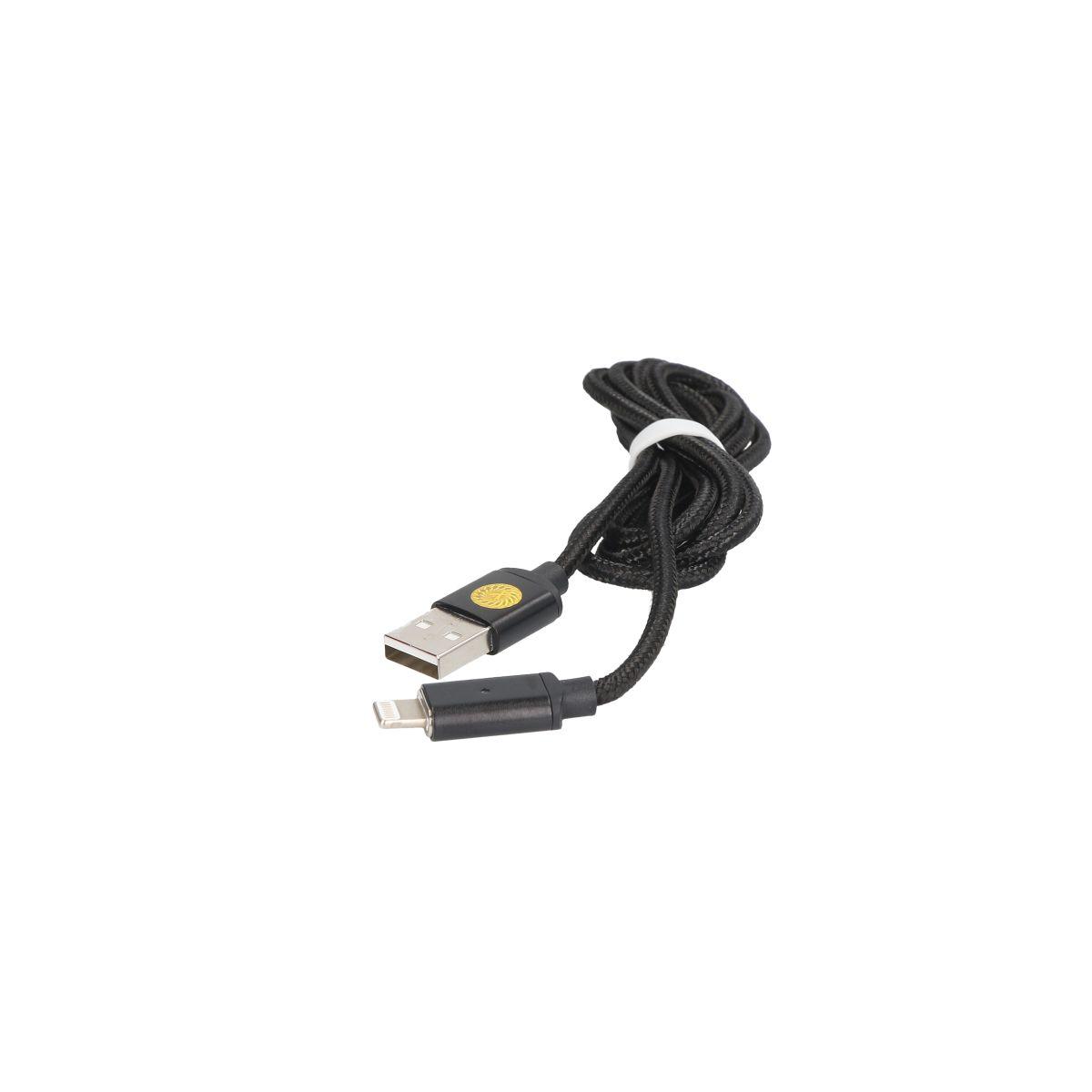 EXTREME-STYLE Opletený USB kabel s magnetickým Apple Lightning konektorem, 120 cm