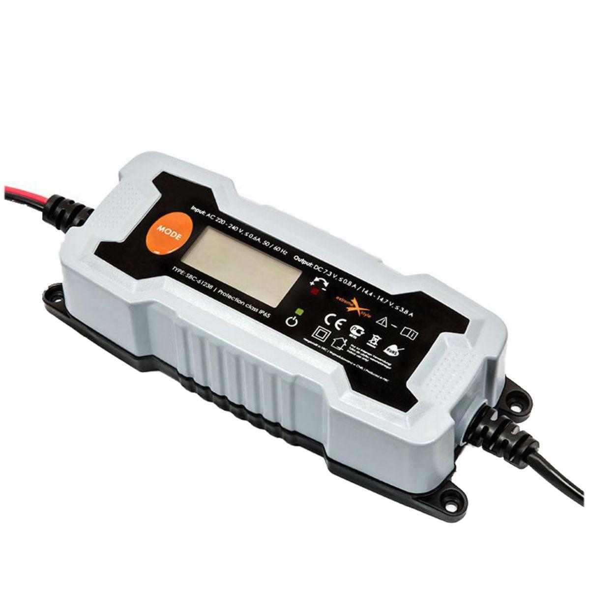 EXTREME-STYLE Inteligentní nabíječka baterií 6V, 12V