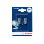 BOSCH Žárovka typ W3W, 12V, 3W, Pure Light