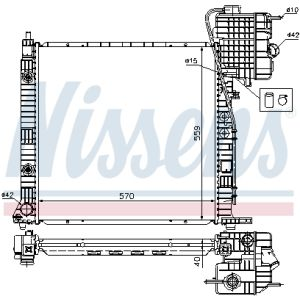 D7M014TT Wasserkühler Motorkühler Autokühler THERMOTEC