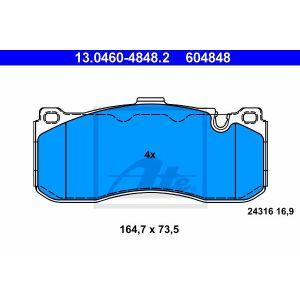 ATE 13.0460-4848.2 Bremsbelag Satz Bremsklötze für BMW