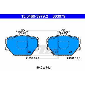Scheibenbremse ATE 13.0460-3979.2 Bremsbelagsatz