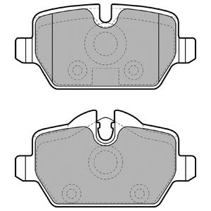 GDB1612 Trw Bremsbelagsatz Scheibenbremse HA
