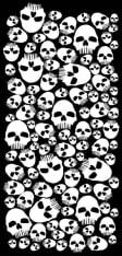 Kołnierz ocieplający OXFORD SNUG Skulls kolor biały/czarny, rozmiar OS