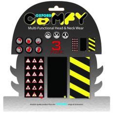 Kołnierz ocieplający OXFORD WARNINGS kolor czarny/czerwony/żółty, rozmiar OS 3-pack