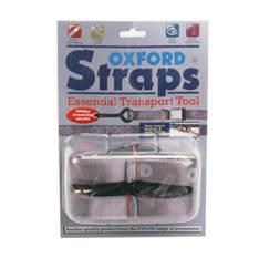 Mocowanie OXFORD kolor srebrny pasy do mocowania motocykla z hakami