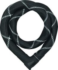 łańcuch motocyklowy z zamkiem ABUS Steel-O-Chain Iven 8210 8 mm/110 cm, kolor czarny/szary
