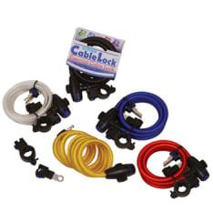 Linka z zapięciem OXFORD Cable Lock kolor czerwony długość 1,8m x 12mm