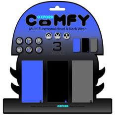 Kołnierz ocieplający OXFORD Blue/Blk/Grey kolor czarny/niebieski/szary, rozmiar OS 3-pack