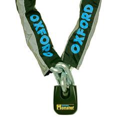 Łańcuch z zapięciem OXFORD Monster kolor czarny 1,5m x ogniwo łańcucha 14mm 14mm x 150cm