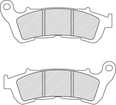 Klocki hamulcowe przód/tył, przeznaczenie: droga, materiał: sinter-ST, 118,1x45,4x8,4mm HONDA CB, VFR 600/800 2006-