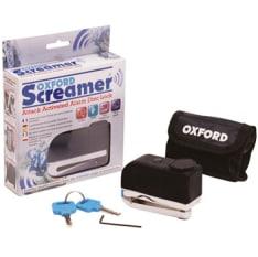 Blokada tarczy hamulcowej OXFORD SCREAMER kolor chrom/czarny trzpień 7mm