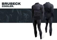 Spodnie termoaktywne BRUBECK COOLER NEW kolor czarny