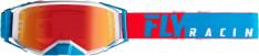 Gogle motocyklowe FLY RACING 2019 Zone Pro kolor biały/czerwony/niebieski