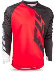 Koszulka rowerowa FLY RADIUM kolor biały/czarny/czerwony