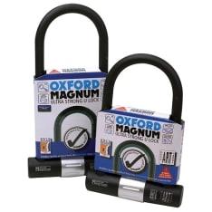 Zabezpieczenie antykradzieżowe OXFORD MAGNUM U-lock kolor czarny/srebrny 170mm x 285mm