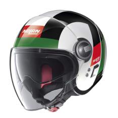Kask otwarty NOLAN N21 VISOR SPHEROID 45 kolor biały/czarny/czerwony/zielony