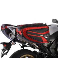 Sakwy tekstylne (50L) P50R OXFORD kolor czerwony