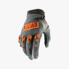 Rękawice off road 100% AIRMATIC kolor pomarańczowy/szary