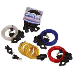 Zabezpieczenie antykradzieżowe OXFORD Cable Lock kolor czarny 12mm 1,8m x 12mm