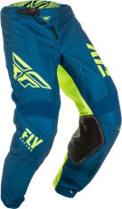 Spodnie cross/enduro FLY RACING KINETIC Shield kolor fluorescencyjny/niebieski/żółty