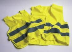 kamizelka odblaskowa rozpinana kolor żółty