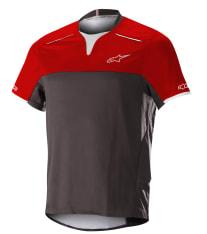 Koszulka rowerowa ALPINESTARS DROP PRO S/S JERSEY kolor czarny/czerwony