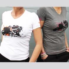 Koszulki, koszule UNION LADY IXON kolor biały/pomarańczowy