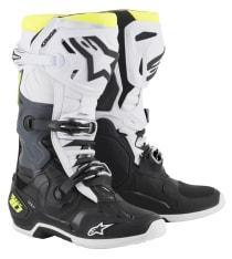 Buty cross/enduro TECH 10 ALPINESTARS MX kolor biały/czarny/fluorescencyjny/żółty