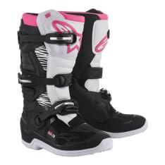 Buty cross/enduro STELLA TECH 3 ALPINESTARS MX kolor biały/czarny/różowy