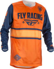 Koszulka rowerowa FLY KINETIC ERA kolor niebieski/pomarańczowy