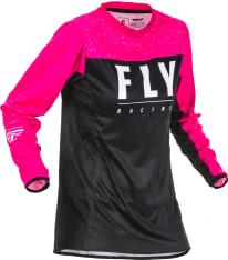 Koszulka off road FLY RACING Women's Lite kolor czarny/fluorescencyjny/różowy