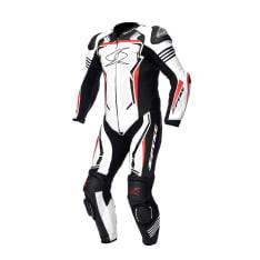 Kombinezon jednoczęściowy ASSEN RACE 2.0 SPYKE kolor biały/czarny/czerwony/fluorescencyjny