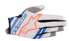 Rękawice off road ALPINESTARS MX RADAR kolor fluorescencyjny/niebieski/pomarańczowy/szary