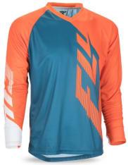 Koszulka rowerowa FLY RADIUM kolor biały/niebieski/pomarańczowy