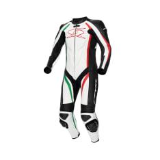 Kombinezon jednoczęściowy BLASTER GT-R SPYKE kolor biały/czarny/czerwony/zielony