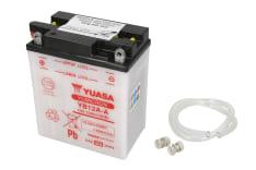 Akumulator Kwasowy/Obsługowy/Rozruchowy YUASA 12V 12Ah 150A L+ odpowietrzenie z lewej 134x80x160 Suchoładowany bez elektrolitu BENELLI 250, 650; DUCATI SS; HONDA CB, CBX, CM, CMX 200-900 1968-