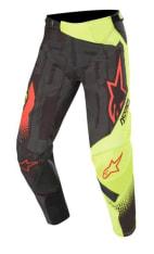 Spodnie cross/enduro ALPINESTARS MX TECHSTAR FACTORY kolor czarny/czerwony/fluorescencyjny/żółty