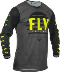 Koszulka off road FLY RACING KINETIC K220 kolor czarny/fluorescencyjny/szary/żółty