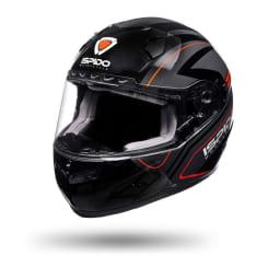 Kask integralny ISPIDO RACE SV kolor czarny/czerwony/szary