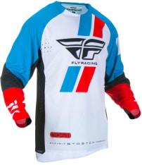 Koszulka off road FLY RACING Evolution DST kolor czarny/czerwony/niebieski