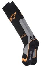 Skarpetki termoaktywne ALPINESTARS MX PRO COOLMAX kolor czarny/pomarańczowy/szary