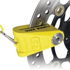 Blokada tarczy hamulcowej OXFORD Alpha XD14 kolor żółty pin 14mm