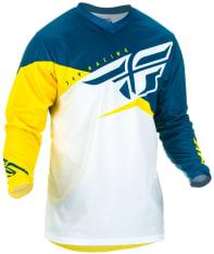 Koszulka off road FLY RACING F-16 kolor biały/niebieski/żółty