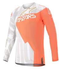 Koszulka off road ALPINESTARS MX TECHSTAR FACTORY METAL kolor biały/fluorescencyjny/pomarańczowy