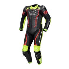 Kombinezon jednoczęściowy ASSEN RACE 2.0 SPYKE kolor czarny/czerwony/fluorescencyjny/żółty
