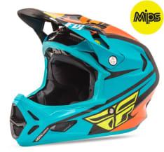 Kask rowerowy FLY WERX (Mips) RIVAL kolor czarny/niebieski/pomarańczowy