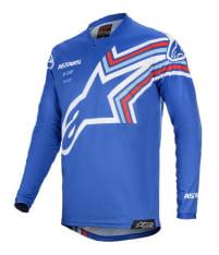 Koszulka off road ALPINESTARS MX RACER BRAAP kolor biały/niebieski