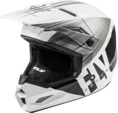 Kask cross/enduro FLY RACING KINETIC K220 ECE kolor biały/czarny/szary