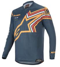Koszulka off road ALPINESTARS MX RACER BRAAP kolor granatowy/pomarańczowy